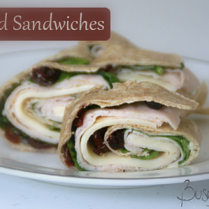 Cherry Rolled Sandwiches