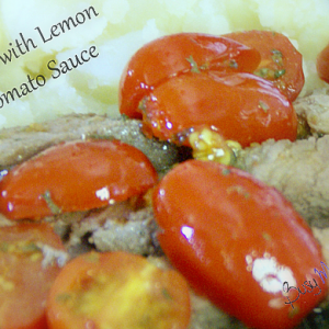 Steak with Lemon Tomato Sauce