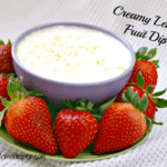 Creamy Lemon Fruit Dip