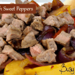 Grilled Steak with Sweet Peppers