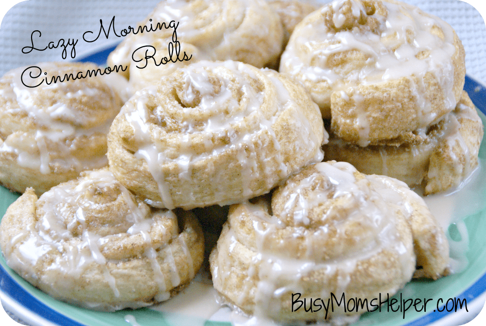 Lazy Morning Cinnamon Rolls / Busy Mom's Helper