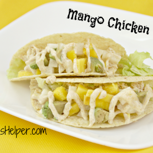 Mango Chicken Tacos / Busy Mom's Helper