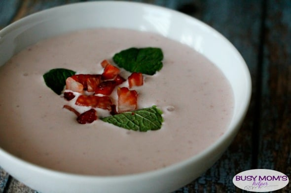 Copycat Carnival Cruise Strawberry Bisque - a creamy, delicious strawberry soup recipe!