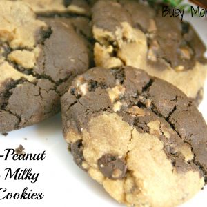 Chocolate Peanut Butter Milky Way Cookies