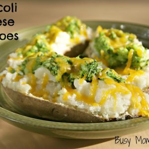 Broccoli Cheese Potatoes / Busy Mom's Helper