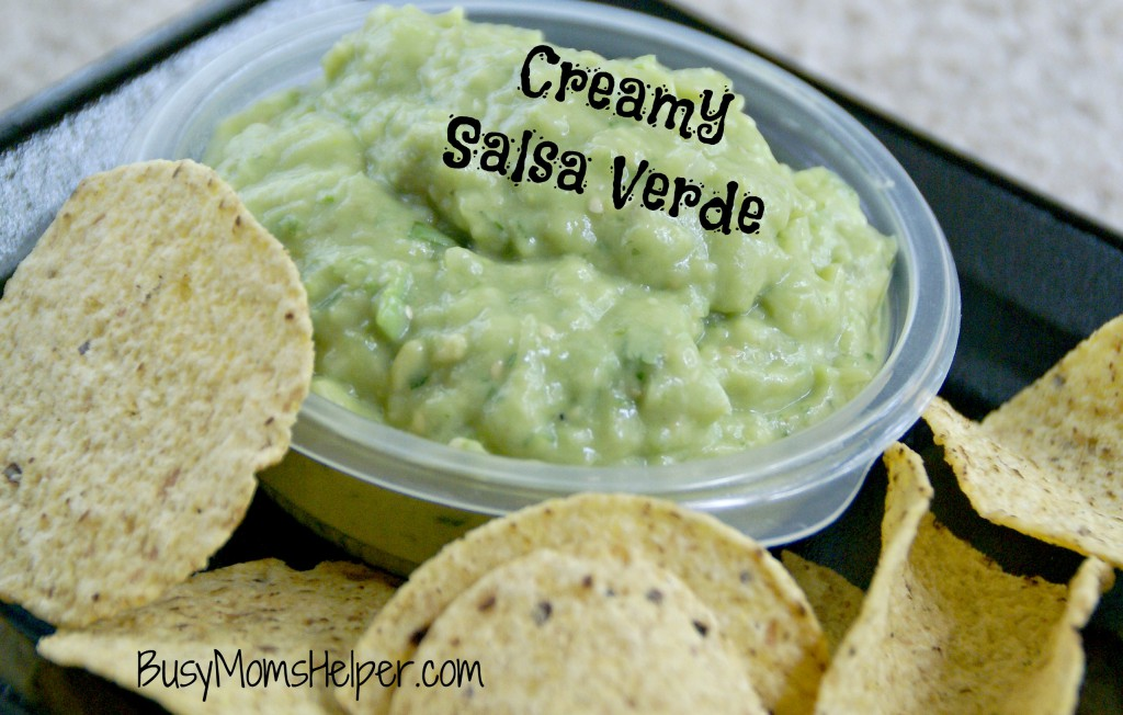 Creamy Salsa Verde / Busy Mom's Helper