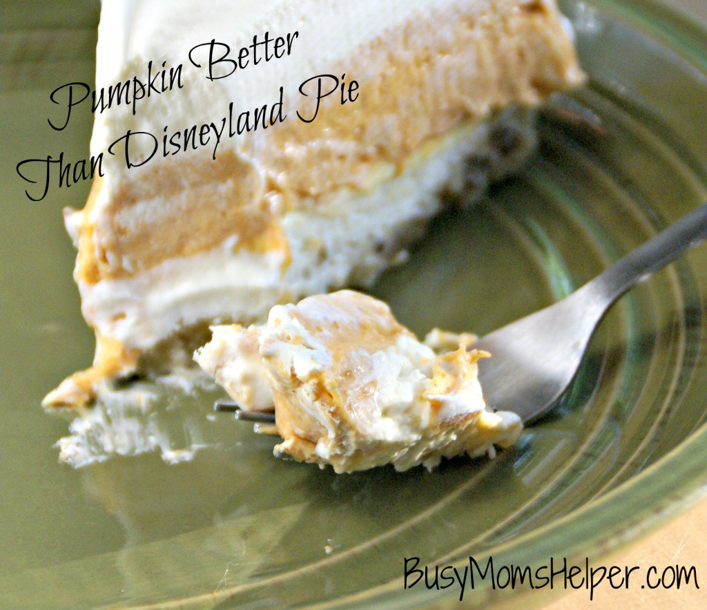 Pumpkin Better Than Disneyland Pie