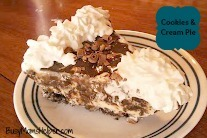 Cookies & Cream Ice Cream Pie / Busy Mom's Helper