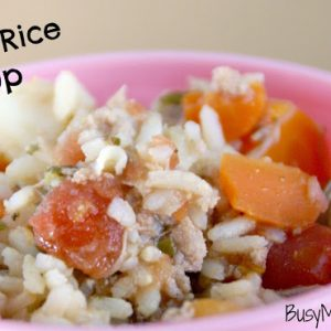 Turkey Rice Soup / Busy Mom's Helper