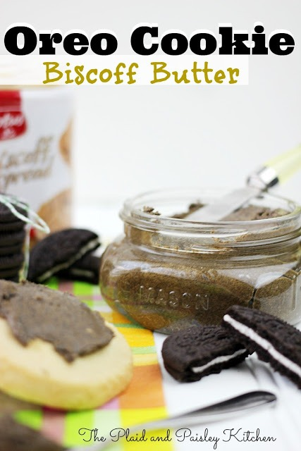 Oreo Cookie Biscoff Butter from Plaid & Paisley Kitchen / Busy Mom's Helper