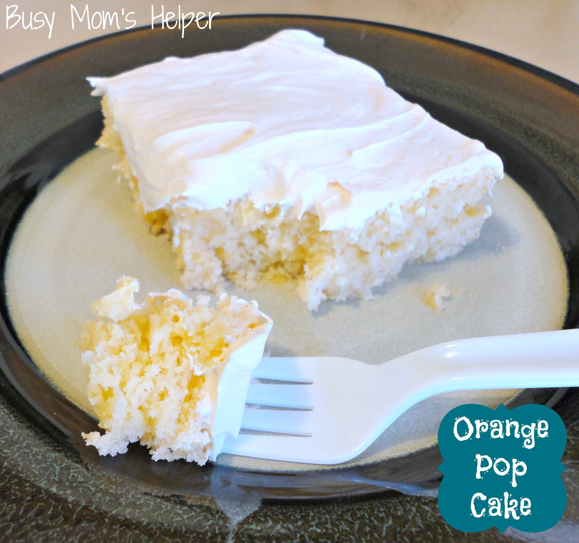 Orange Pop Cake / Busy Mom's Helper