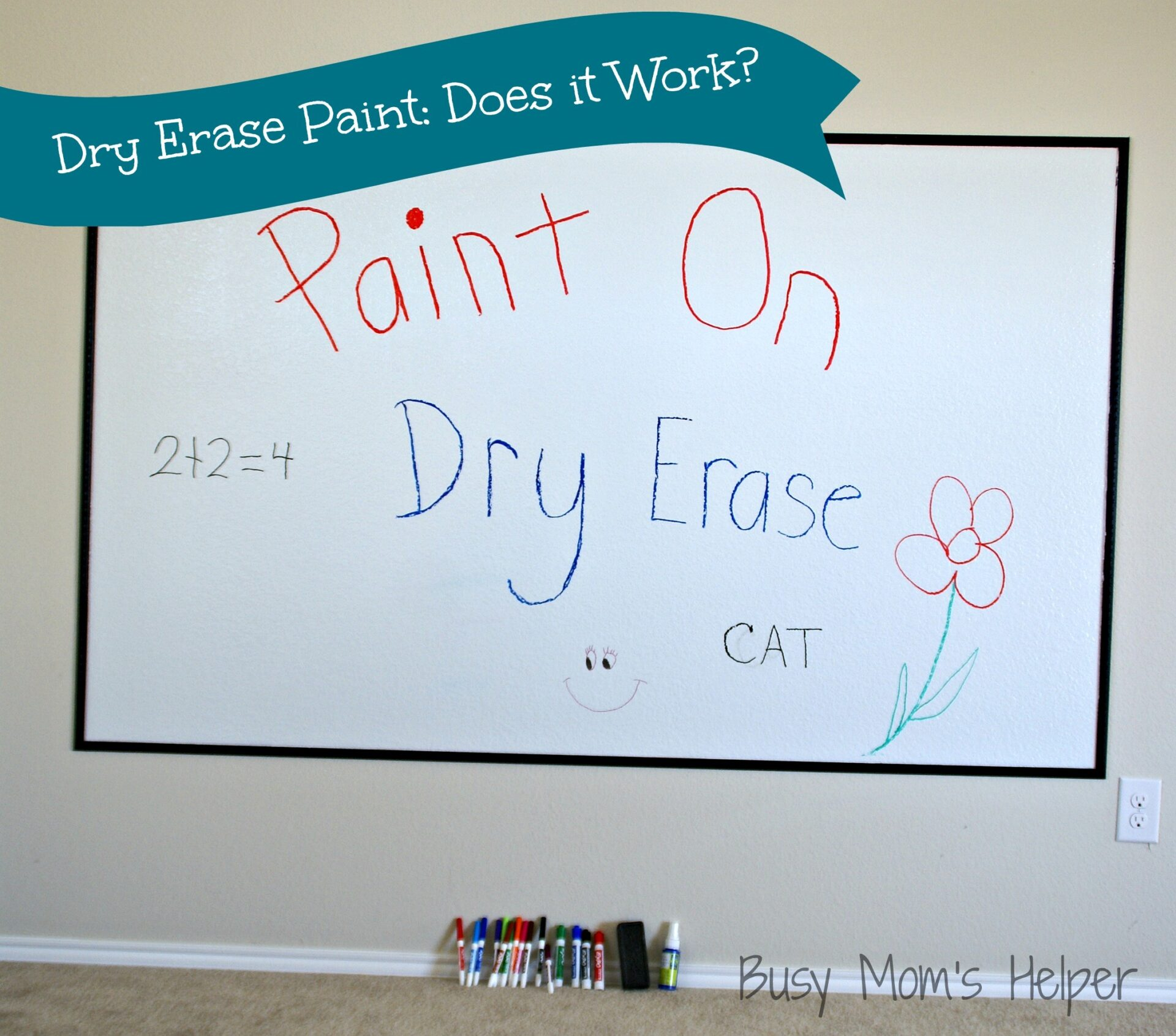 Dry Erase Paint Does it Work TWO Projects Busy Moms Helper