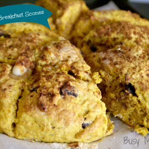 Pumpkin Spice Breakfast Scones