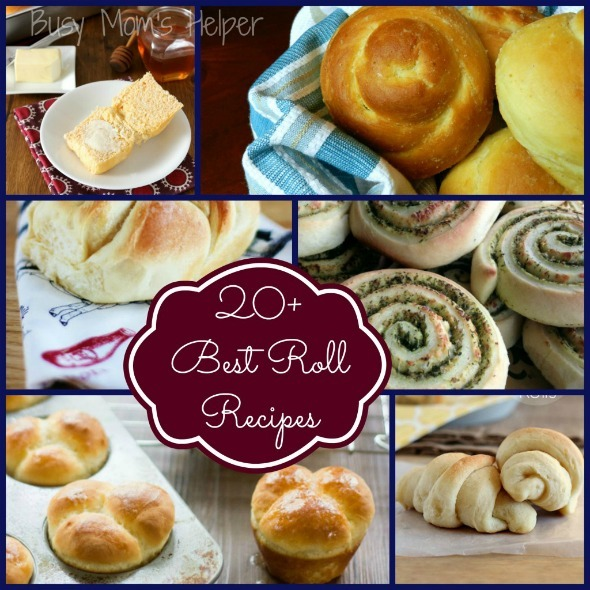 20+ of the Best Roll Recipes / by Busy Mom's Helper #Rolls #SideDishes