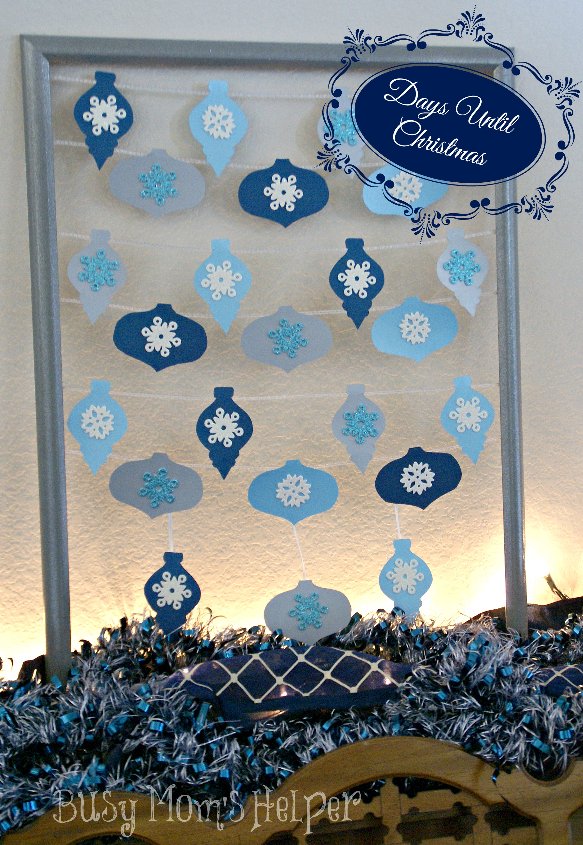 diy days until christmas countdown busy moms helper - How Many More Days Until Christmas 2014
