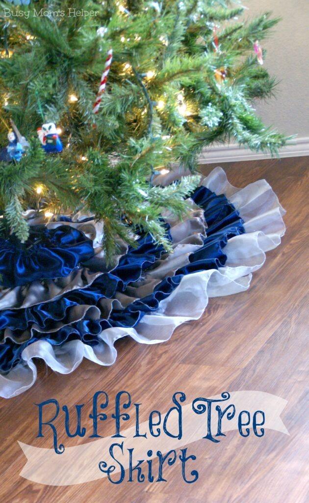 DIY Ruffled Tree Skirt / Busy Mom's Helper
