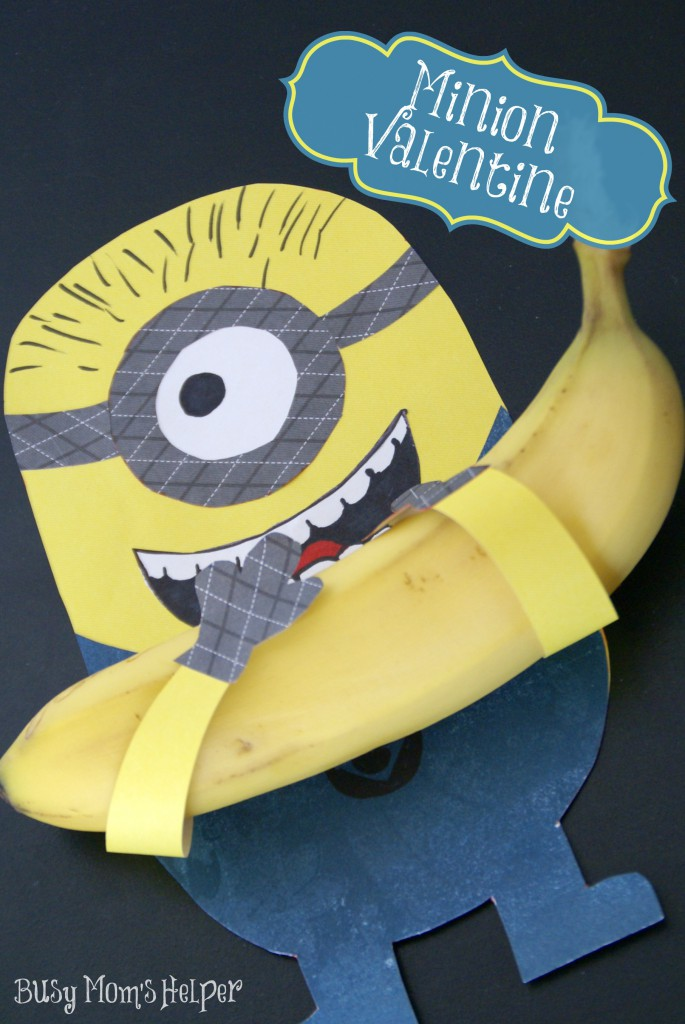 Minion Valentine with Free Printable / Busy Mom's Helper