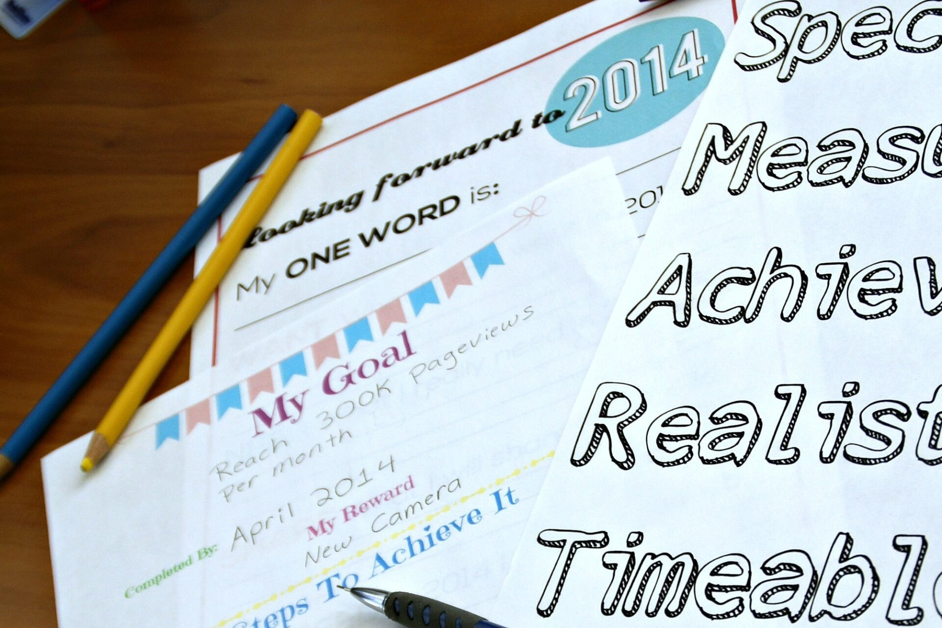 My Goals for 2014 with Free Printables / Busy Mom's Helper
