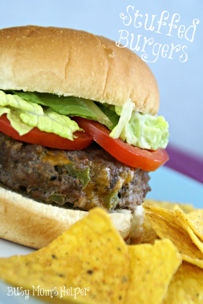 Stuffed Burgers / Busy Mom's Helper