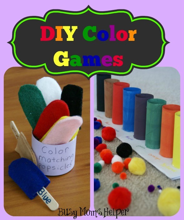 DIY Color Games / by BusyMomsHelper.com #craft #colorgames #kids #learningcolors