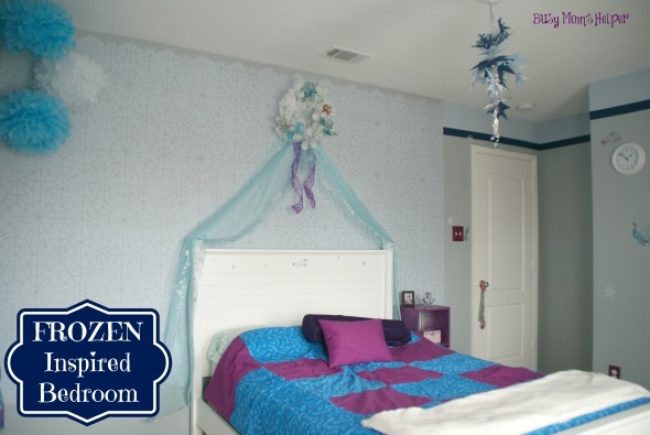 FROZEN Inspired Bedroom / by www.BusyMomsHelper #Frozen #bedroom #girlsbedroom #remodel #Disney