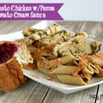 Garlic Pesto Chicken with Penne in Tomato Cream Sauce