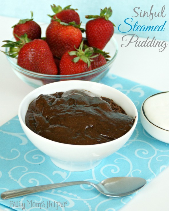 Sinful Steamed Pudding / by www.BusyMomsHelper.com #chocolate #pudding #dessert