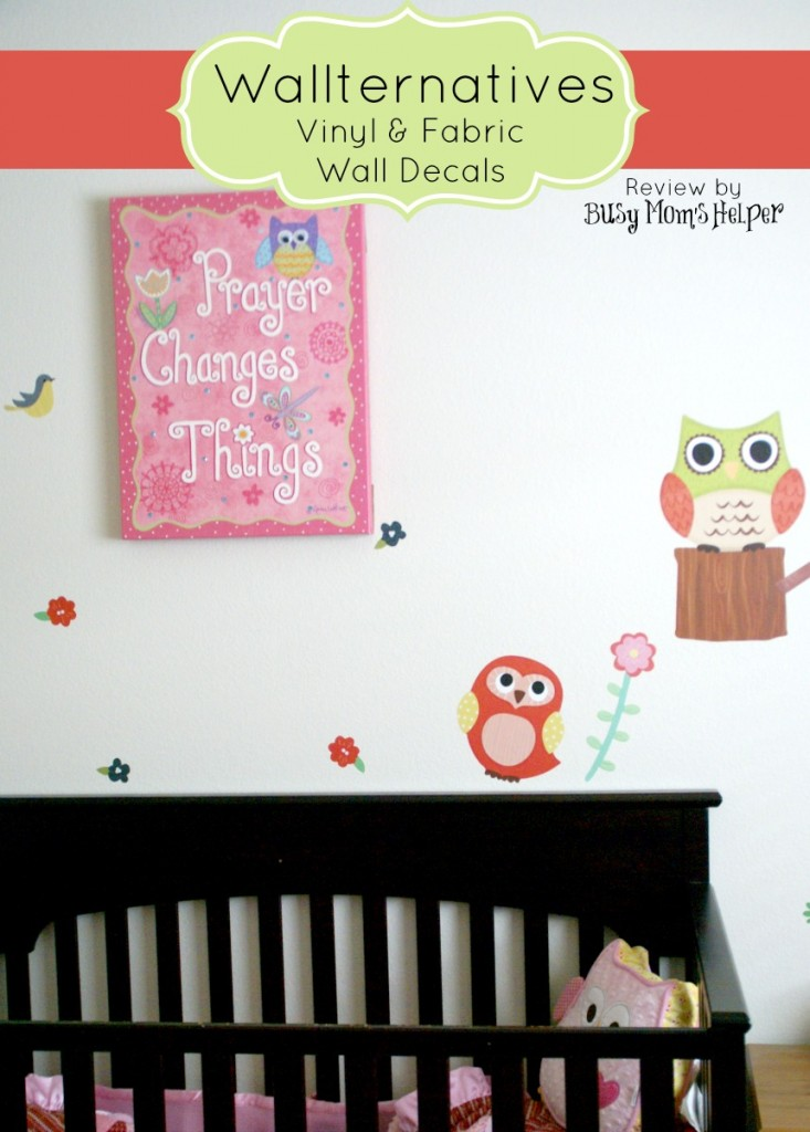 Wallternatives Wall Decals / review by www.BusyMomsHelper.com #Wallternatives #vinyldecor #fabricdecal #homedecor