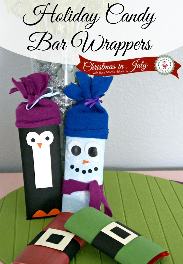 Diy Holiday Candy Bar Wrappers