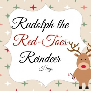 Rudolph The Red Toes Reindeer Gift
