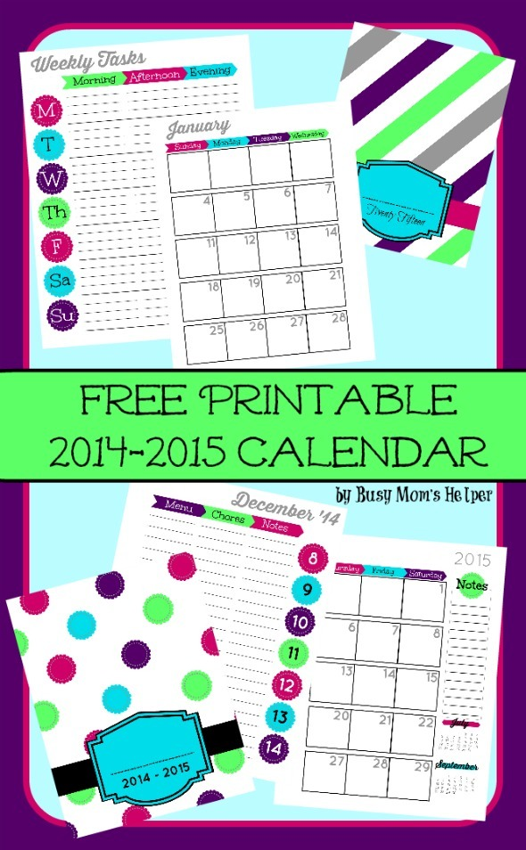 Free Printable 2015 Planner - Busy Mom'S Helper