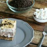 Frosty S'more Brownie Bars