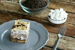Frosty S'more Brownie Bars / by Busy Mom's Helper #Smores #Brownies #GrahamCracker #Chocolate #Dessert