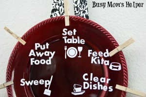 DIY Kitchen Chore Plate