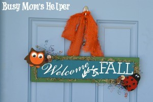 DIY Welcome Fall Sign
