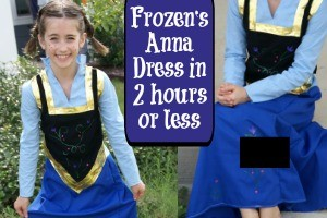 Frozen's Anna Dress in 2 hours or less