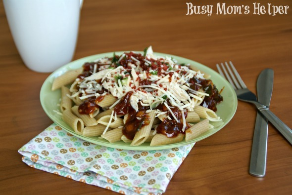 BBQ Chicken Pasta / by Busy Mom's Helper #BBQ #ChickenPasta