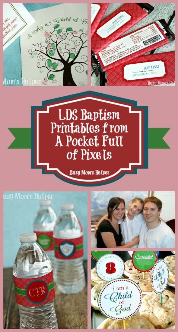 LDS Baptism Printables from A Pocket Full of Pixels / by Busy Mom's Helper #LDS #baptism #printables #etsy