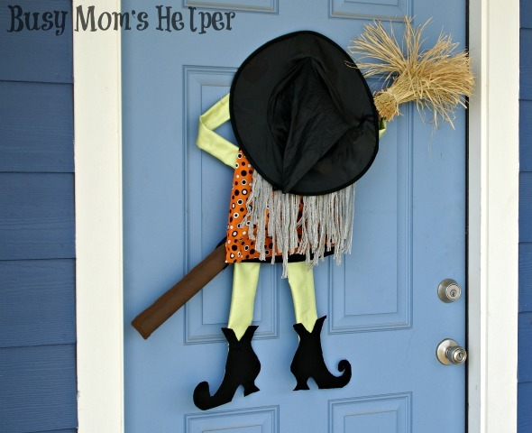 Crashing Witch Door Decor Busy Mom S Helper
