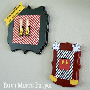 DIY Disney Countdown / by Busy Mom's Helper #Disney #Vacation #Craft