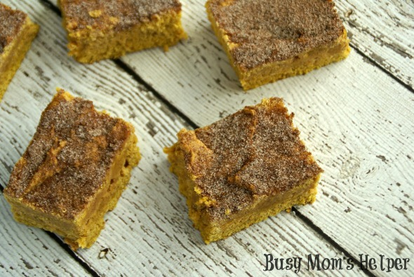 Pumpkin Snickerdoodle Cookie Bars / by Busy Mom's Helper #Pumpkin #Snickerdoodle #Cookies #Bars #Dessert