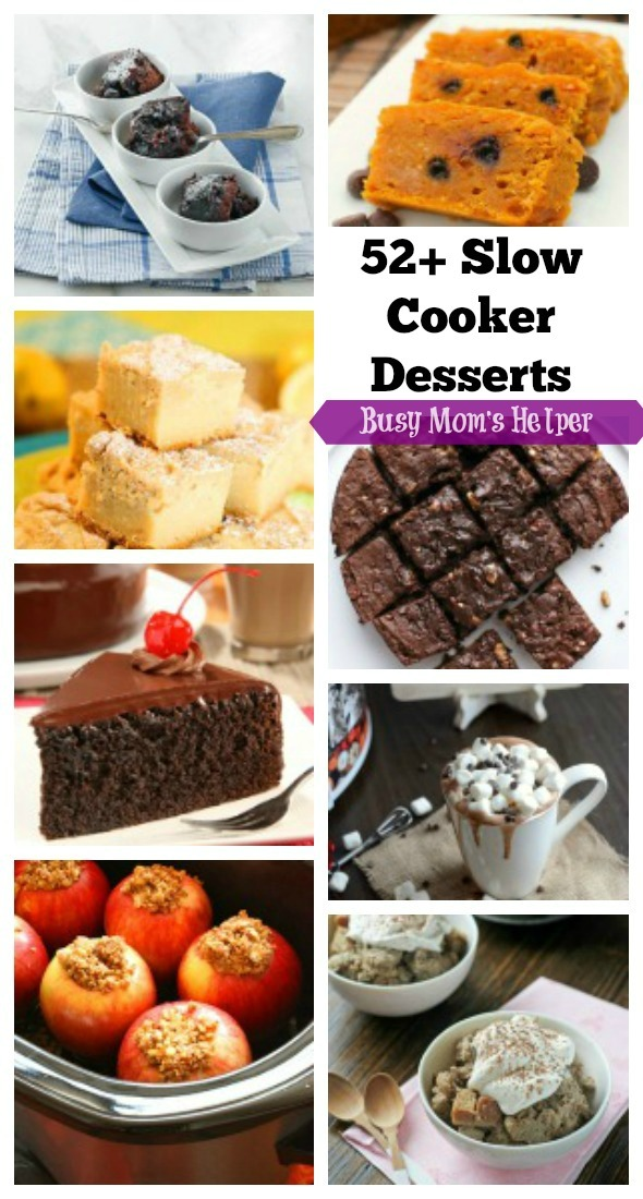 52+ Slow Cooker Desserts / by Busy Mom's Helper #SlowCooker #Desserts #RoundUp