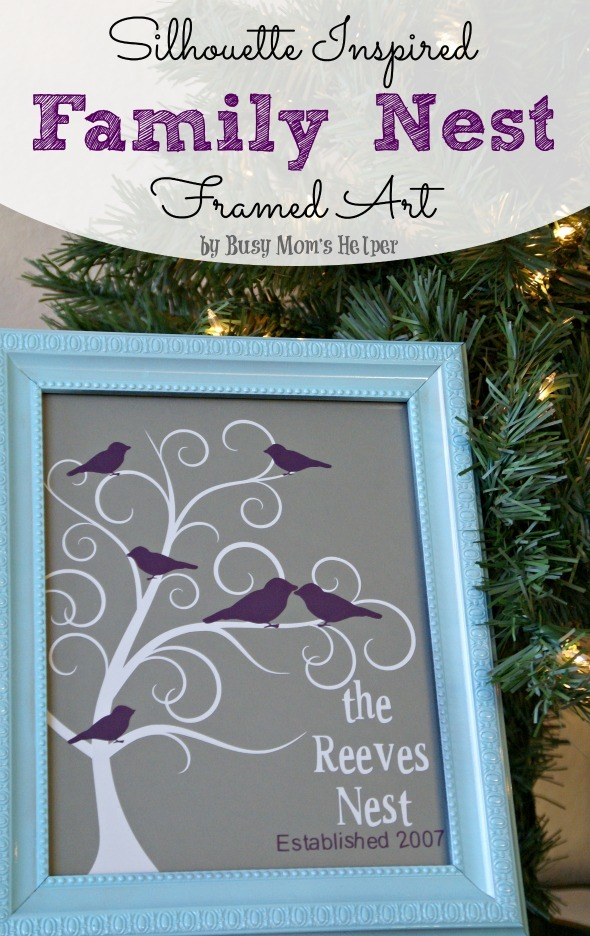 Family Nest Frame Art + HUGE Silhouette Sale / by Busy Mom' s Helper #silhouette #homedecor