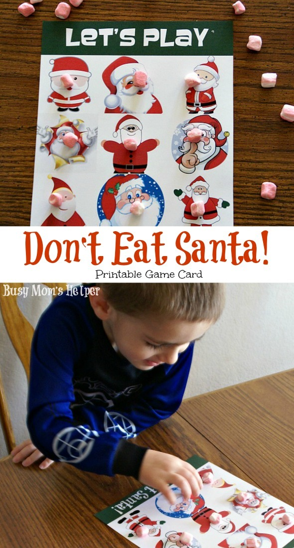 Don't Eat Santa Printable Game Card / by Busy Mom's Helper #holidays #game #printable