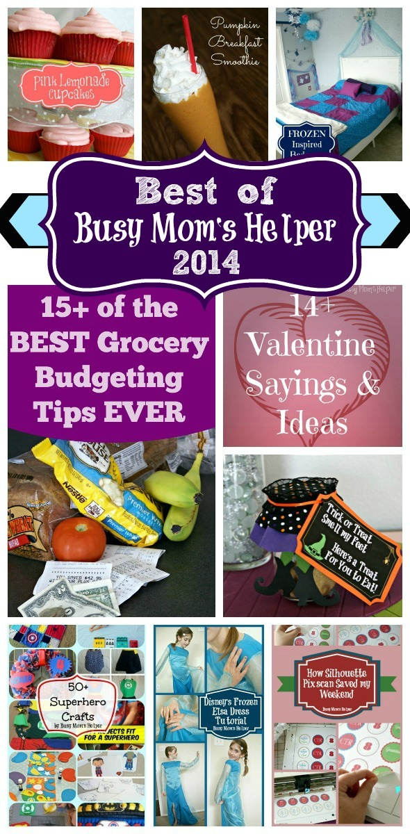 Best of Busy Mom's Helper 2014 #mostpopular #bloggerfavorites #recipes #crafts #printables