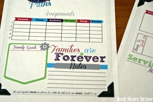 Family Home Evening Planner for Busy Moms