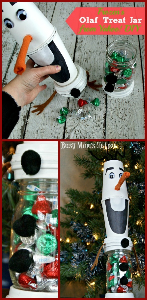 Frozen's Olaf Treat Jar from Yahoo! DIY / by Busy Mom's Helper #YahooDIY #Olaf #Frozen