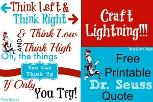 Free Printable Download Dr. Seuss Quote - Busy Mom's Helper
