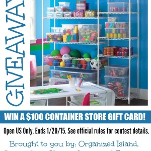 Get Organized! Container Store Giveaway