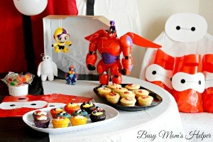 Big Hero 6 Party / by Busy Mom's Helper / Make Honey lemon's bag, pin the tail on Fred, eat Cupcake Fruit sushi and much more! Printables included! #BigHero6Release #Ad
